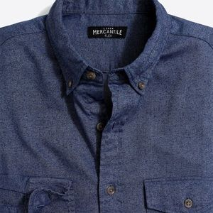 J. Crew slim-fit heather shirt in brushed twill
